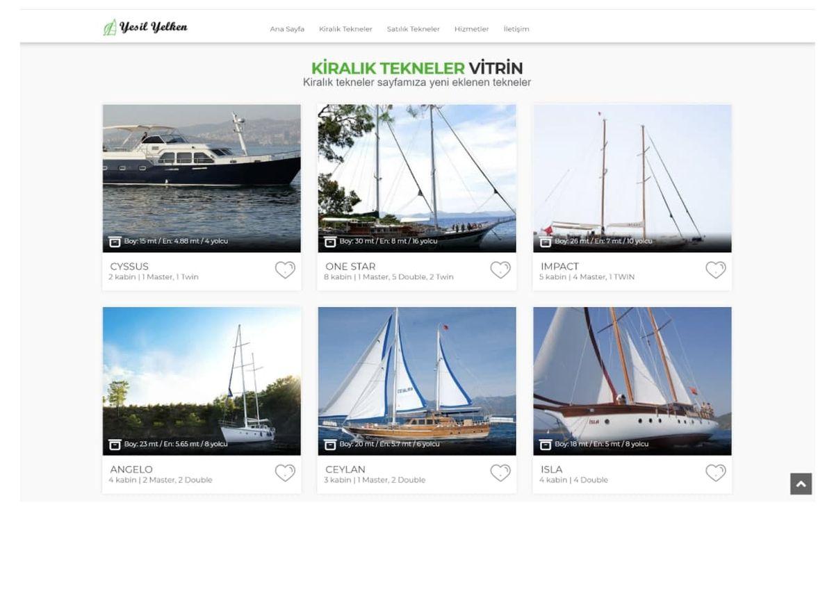 яхты Yeşil Yelken